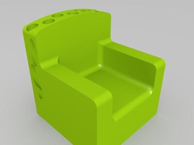 铅笔铁王座-3d打印模型