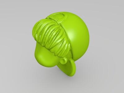 琅琊榜角色Q版逆向建模人物3D模型-3d打印模型