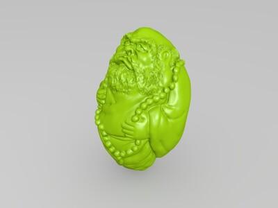骷髅笔筒-3d打印模型