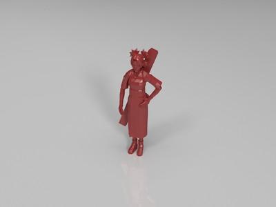火影忍者-手鞠-3d打印模型