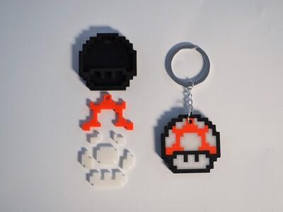 马里奥蘑菇钥匙扣-3d打印模型