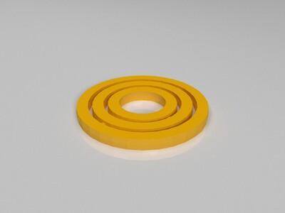 环中环陀螺仪 -3d打印模型