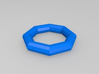 正多边形(圆)的旋转拉伸-3d打印模型