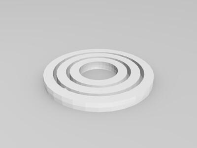 环中环陀螺仪-3d打印模型