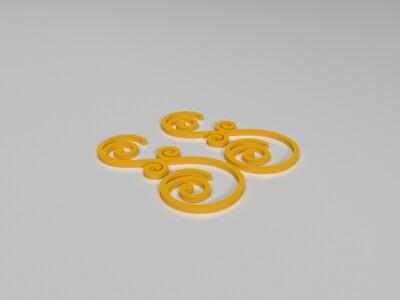 耳环-3d打印模型