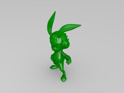 霸气兔-3d打印模型