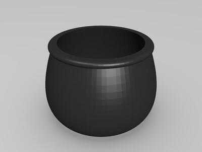 ZAKA风多肉花器-3d打印模型