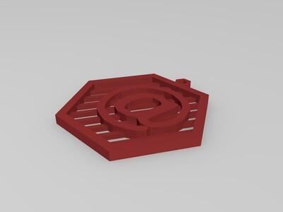 字母符号吊坠-3d打印模型