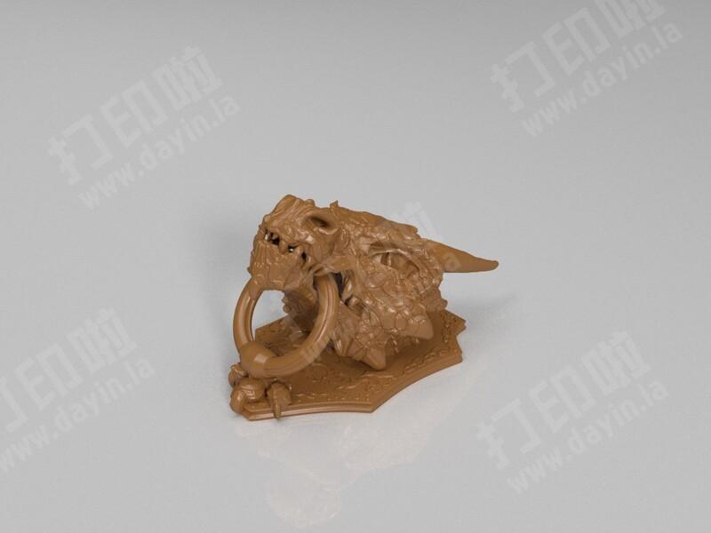 龙头门环-3d打印模型