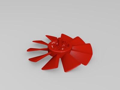 行星齿轮风车-3d打印模型