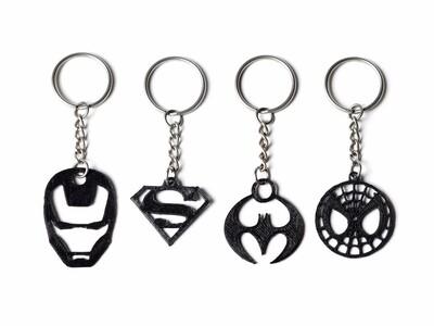 超级英雄钥匙链-3d打印模型