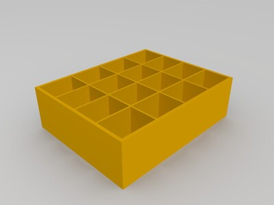 栅格盒子-3d打印模型