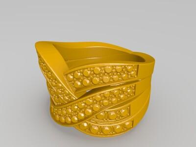 流云载星戒指-3d打印模型