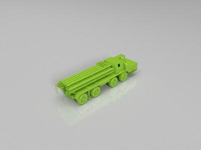 俄罗斯暴风雪多管火箭炮-3d打印模型
