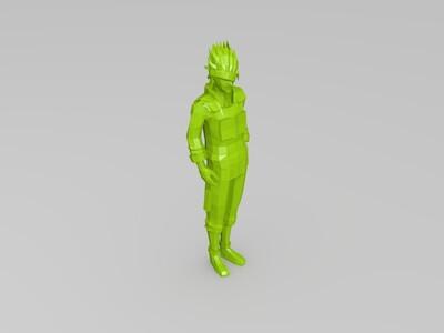 火影忍者-卡卡西-3d打印模型