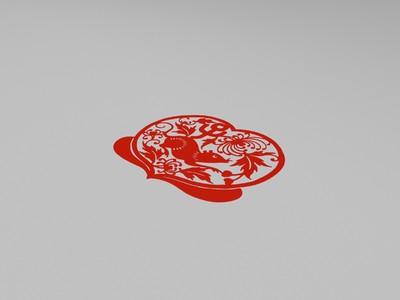 十二生肖窗花-3d打印模型