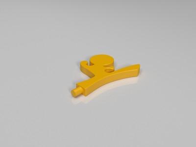 武术小人手机座-3d打印模型