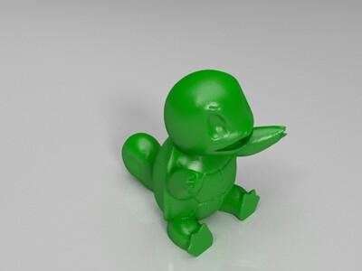自制神奇宝贝喷水池-3d打印模型