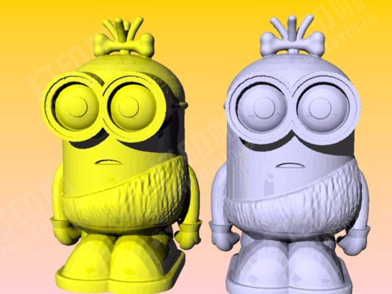 小黄人存钱筒-3d打印模型