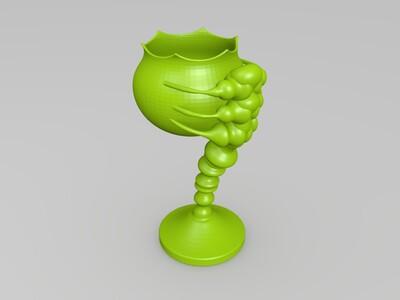 艺术酒杯-3d打印模型