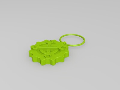 齿轮扳手钥匙链-3d打印模型