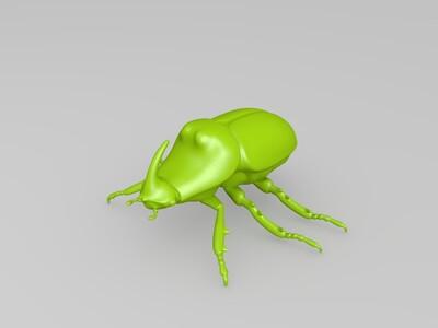 独角仙 犀牛甲虫-3d打印模型