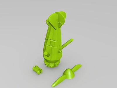 精美小飞机-3d打印模型