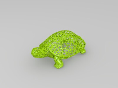 镂空龟-3d打印模型