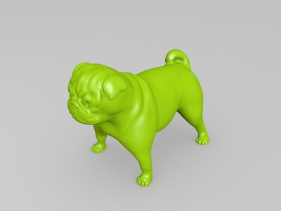 小狗-巴哥-3d打印模型