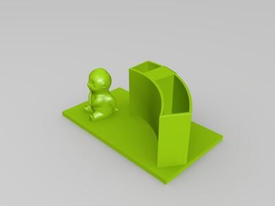 胡巴笔筒-3d打印模型