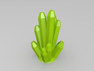 水晶柱-3d打印模型