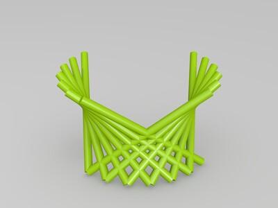 棒棒双曲线结构-3d打印模型