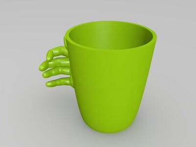 3d打印成品 - 手掌杯子