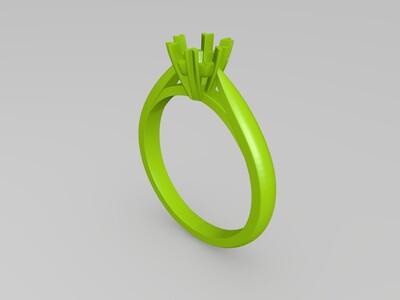 戒指钻戒-3d打印模型