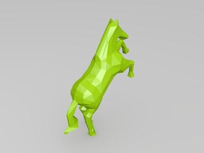 低多边形马-3d打印模型
