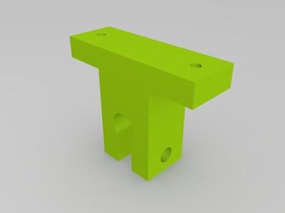 硬直轴固定支架8mm-3d打印模型