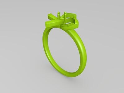 钻石戒指-3d打印模型