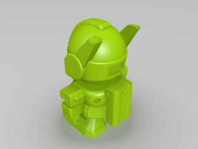 树莓派机器人-3d打印模型