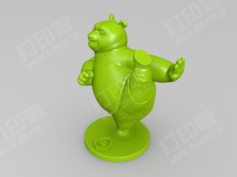 功夫熊猫-3d打印模型