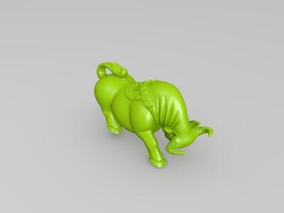 落宝金牛-3d打印模型