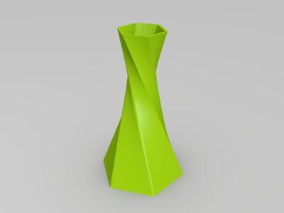 扭曲的六角花瓶-3d打印模型