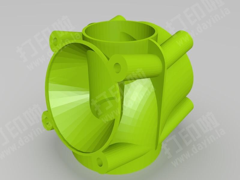双风扇散热-3d打印模型
