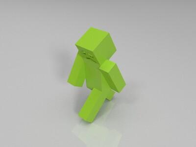 盒子小人-窝来晚了-3d打印模型