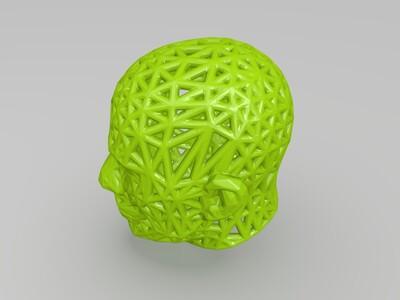 镂空头颅-3d打印模型