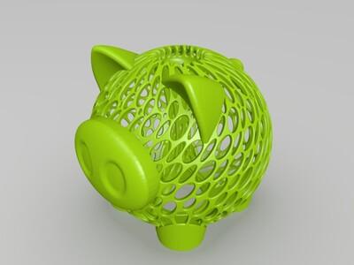 镂空小猪存钱罐-3d打印模型