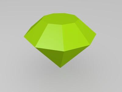 钻石-3d打印模型