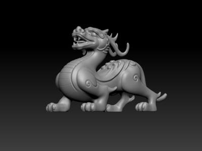 瑞兽-----貔貅-3d打印模型