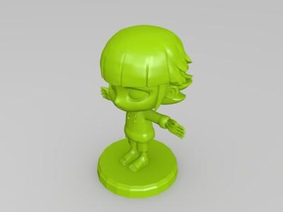 Q版日向雏田手办-3d打印模型