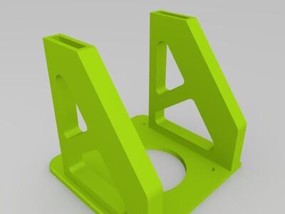 立式挂式两用料架-3d打印模型