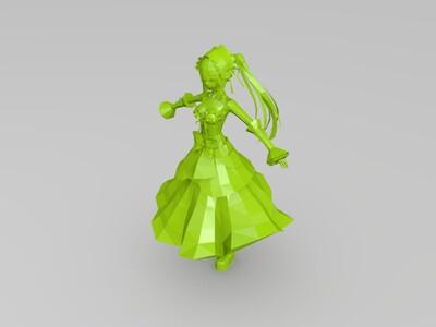 [已修复] 时崎狂三 约会大作战 精灵版本-3d打印模型